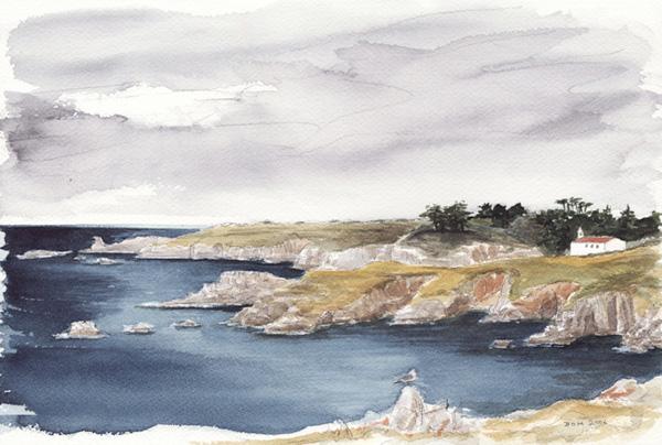 Aquarelle Bretagne aquarelles de mer de dominique maréchal